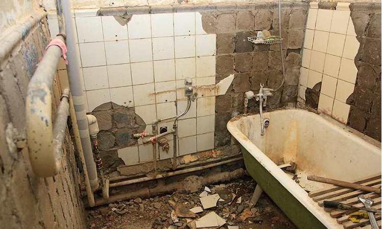 Демонтаж ванной СПб
