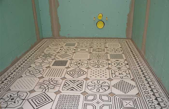 Плитка vives на пол в туалете