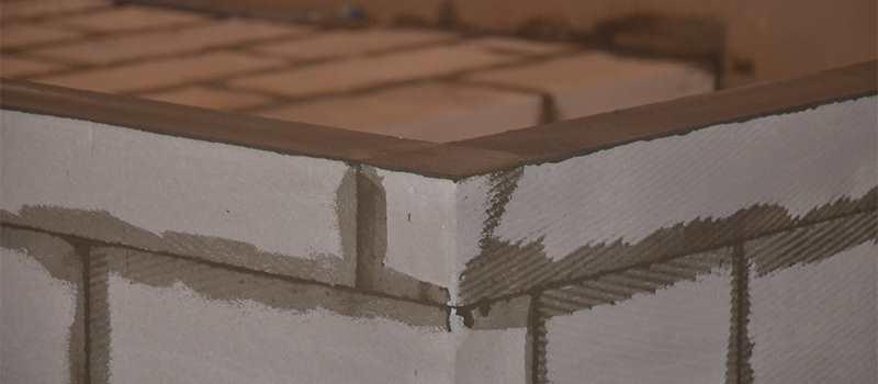перегородка из блоков для стеклянной перегородки