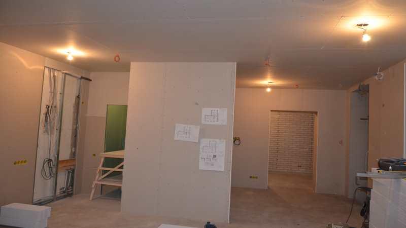 Подвесной потолок из гипрока в салоне красоты