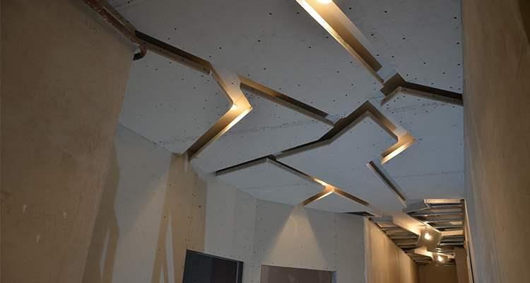 Подвесной потолок в коридор двухуровневый