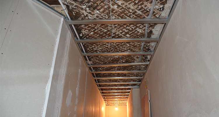 Каркас двухуровнего потолка из гипсокартона СПб