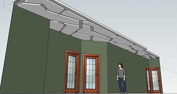 """План """"ломанного"""" потолка"""