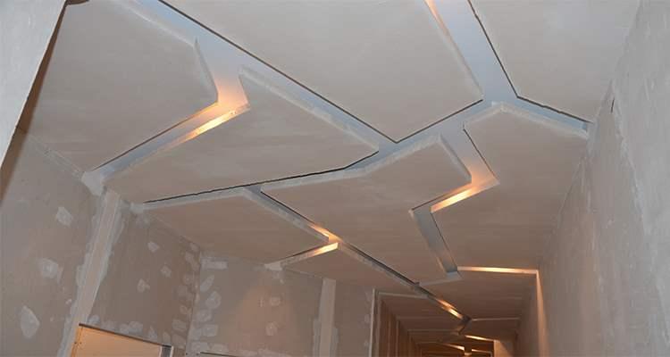 Шпаклевка двухуровневого потолка