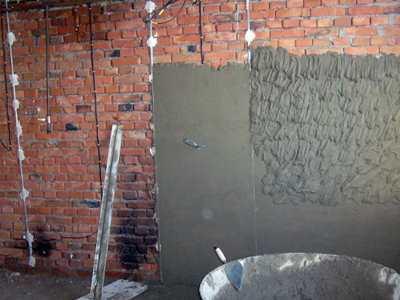 Штукатурка стен в ванной СПб