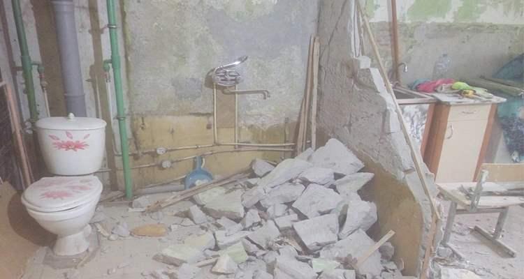 Слом стен ванной на пр.Ветеранов