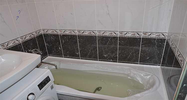 Установка ванной