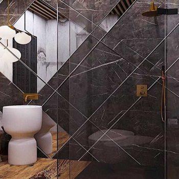Укладка плитки с зеркальными элементами спб
